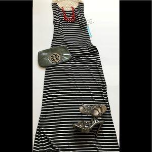 NWT Maxi Dress w Open Back & Crochet Details